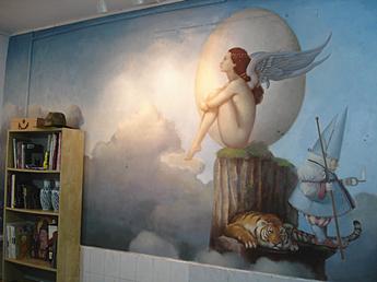 泰极猫绘画工作室墙画