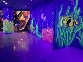 海底世界荧光画