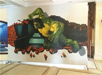 绿巨人3d画展