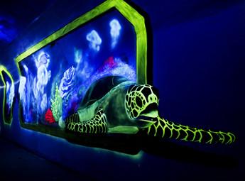 海底世界3d夜光画隧道