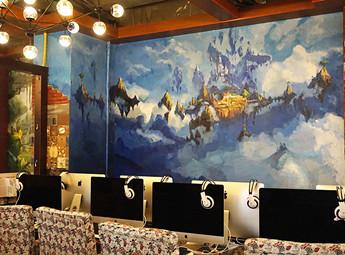 泰极猫墙体彩绘,涂鸦图片彩绘素材分享