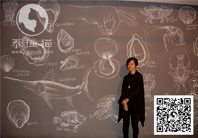 古老的墙体手绘壁画,墙绘结合了欧美的涂鸦艺术风格