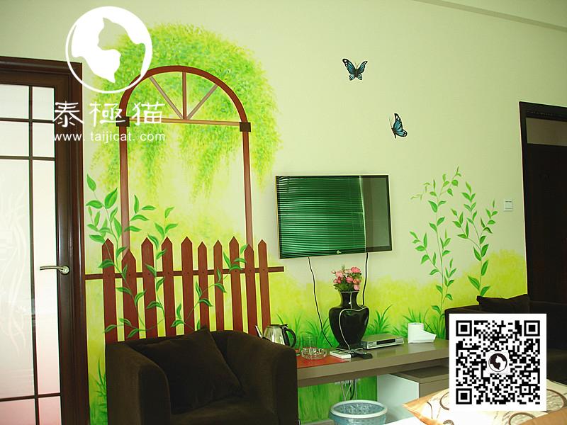 墙绘将一幅幅流动的画面或风景定格在墙壁上,墙绘令自然气息与活力扑