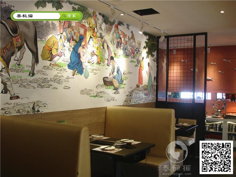 韩国料理餐厅墙体彩绘
