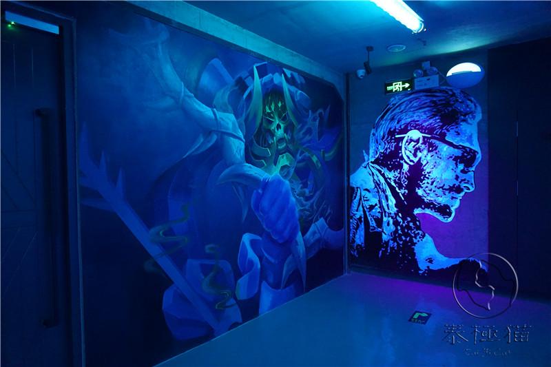 电竞游戏墙绘素材图片